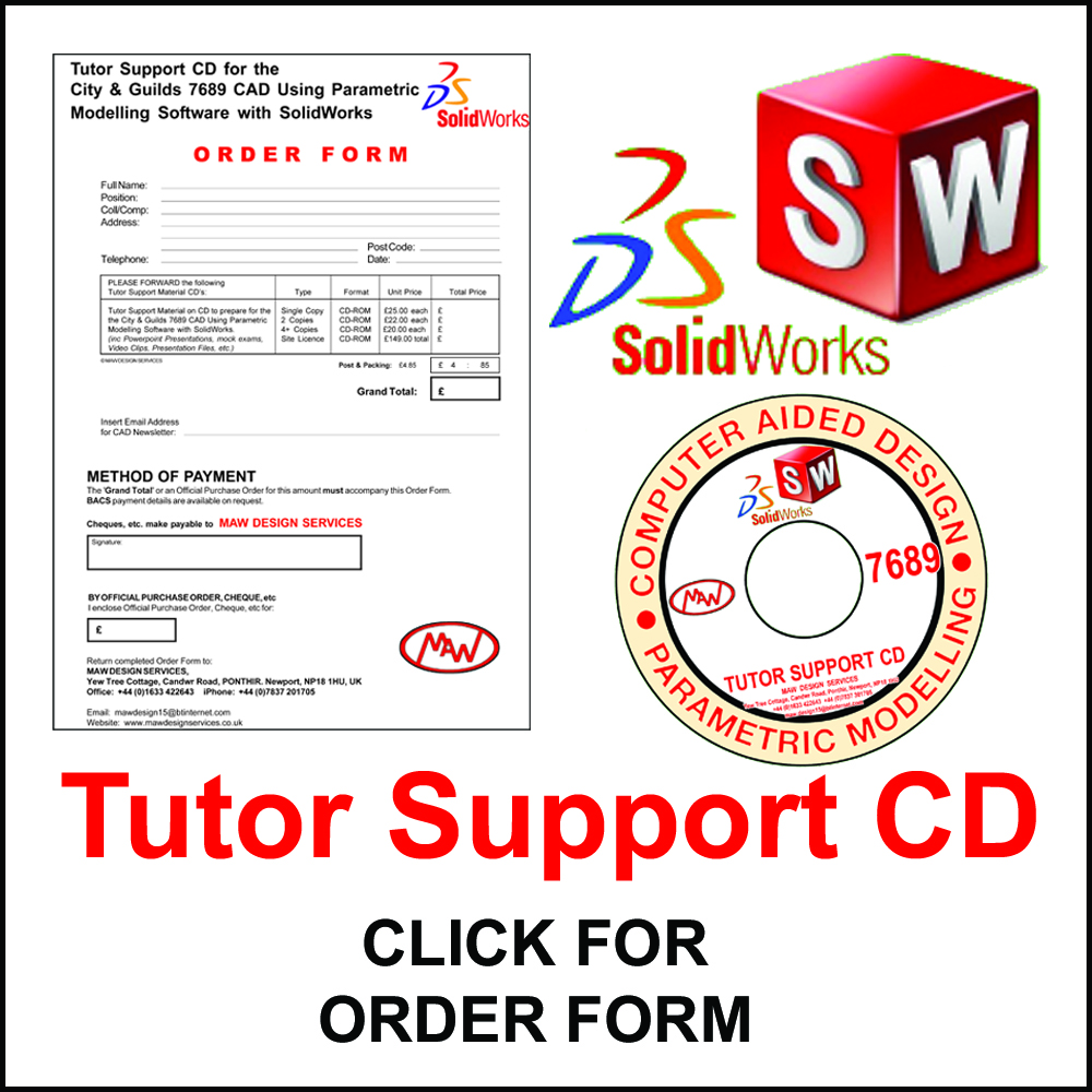 Solid Works Tutor Support Order Forms